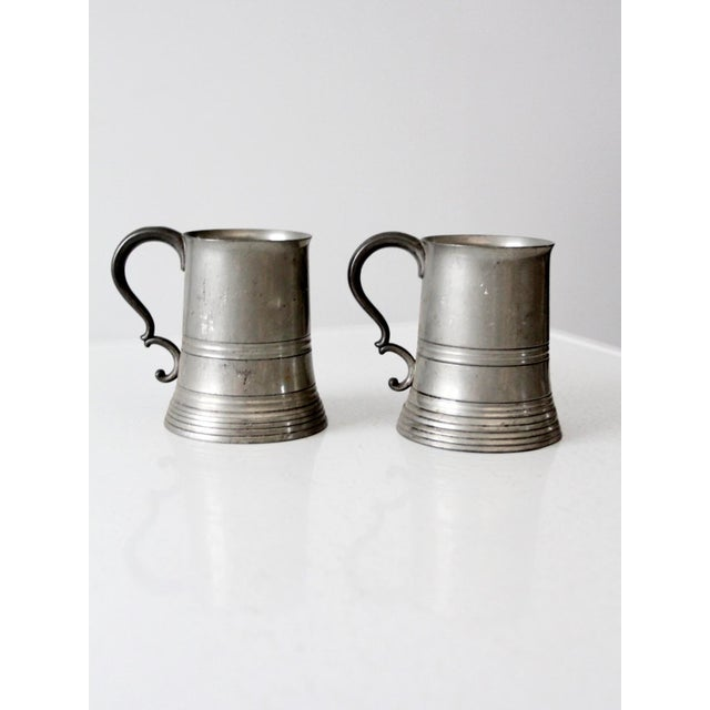 Antique Pewter Glass Bottom Tankards - a Pair For Sale - Image 9 of 13