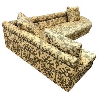 Roche Bobois Architectural Modular Sofa Sectional 3-Piece Custom Kravet Fabric For Sale