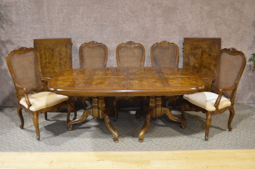 Vintage Henredon Country French Style Dining Table W/Eight Chairs U0026 Leaves    Dining Set