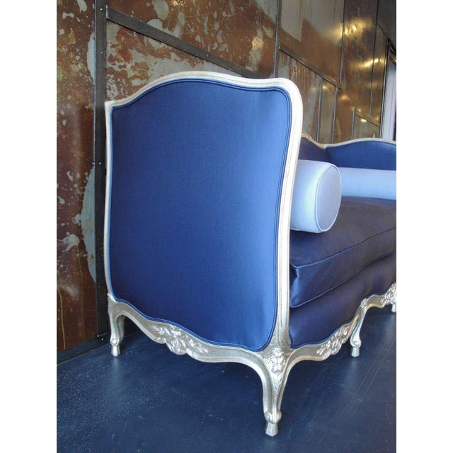 1930s Vintage French Silver Leaf Canape For Sale - Image 4 of 9