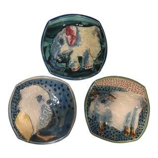 Bernadette Curran Handmade Plates - Set of 3