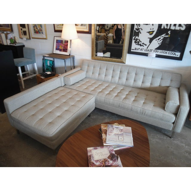 """Contemporary Gus Spencer Loft Bi-Sectional in """"Leaside Driftwood"""" Colorway For Sale - Image 3 of 8"""