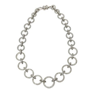 1980s Valentino Runway Circle Link Necklace For Sale