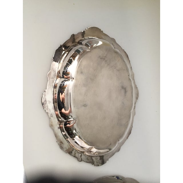 Late 19th Century Antique Sheffield Silver Plate Scroll Borders & Armorial Crest Serving Dish With Cover For Sale - Image 5 of 12
