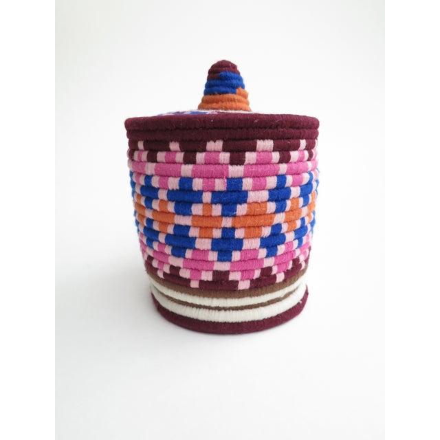 Pink & Blue Moroccan Bread Basket - Image 2 of 4