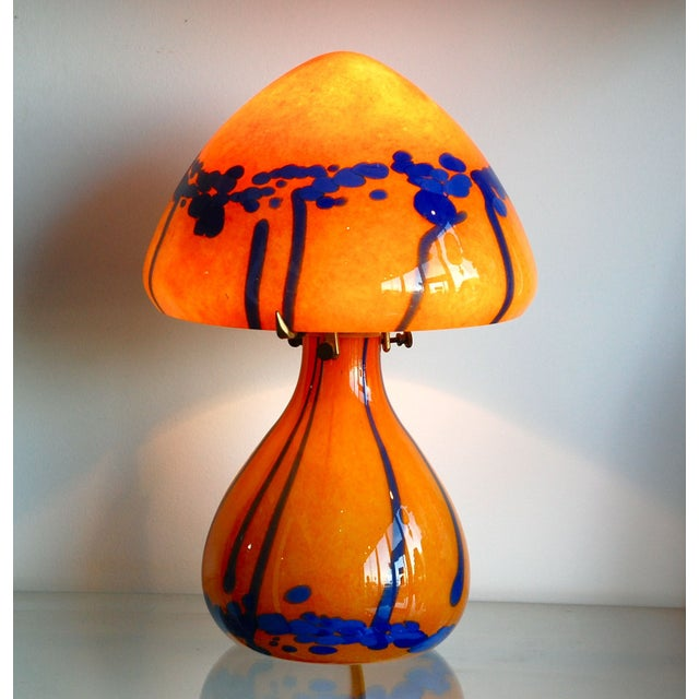 1970s French Handblown Glass Lamp - Image 3 of 3