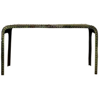 20th Century French Industrial Console Table For Sale
