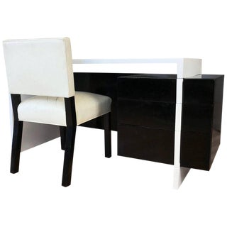 William Haines Attributed Mid-Century Lacquered Desk & Chair Set