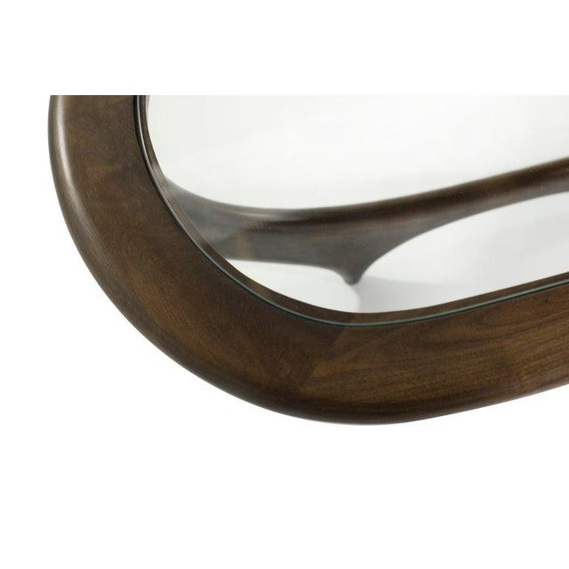 Large Scale Sculptural Walnut Coffee Table, Italy, 1950s For Sale - Image 11 of 13