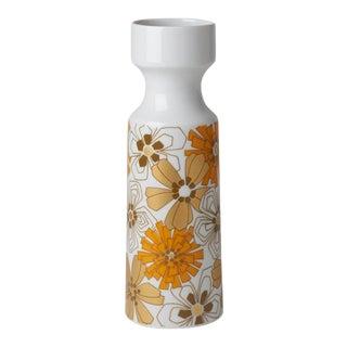 1970s Boho Chic Op Art Floral Vase For Sale