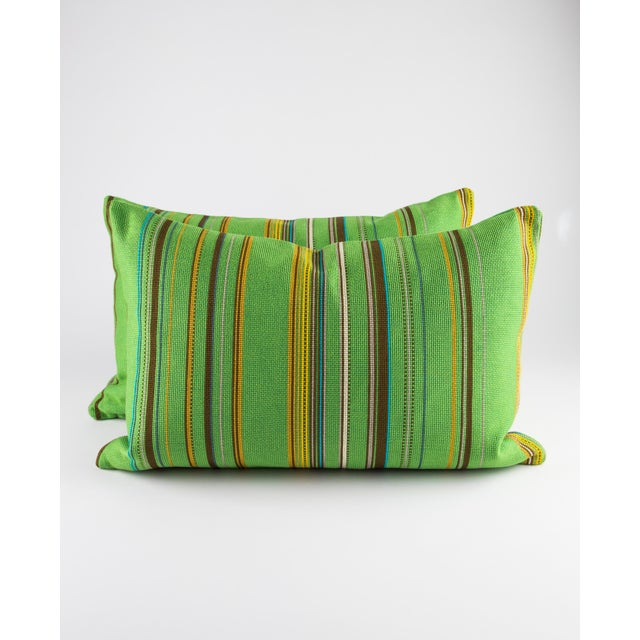 "Black 22"" X 14"" Maharam Point by Paul Smith Down Pillows For Sale - Image 8 of 8"