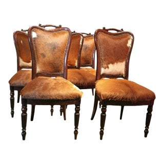"""Italian """"English Makers"""" Mahogany Chairs - Set of 6 For Sale"""