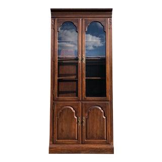 Ethan Allen Georgian Court Cherry Bookcase Cabinet For Sale