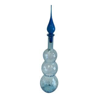 Handmade Italian Glass Vase For Sale
