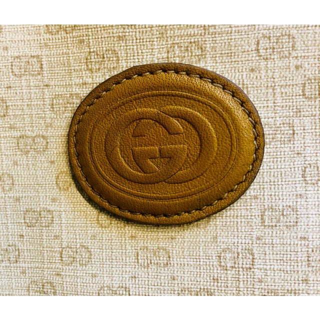 1980s Gucci Canvas Logo Satchel For Sale - Image 10 of 13
