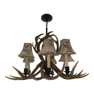 19th C. Petite Breton Antler Chandelier For Sale