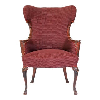 Upholstered Antique Chair For Sale