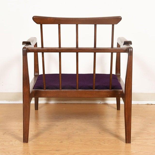 Mid-Century Modern Edmond Spence Mid-Century Modern Walnut Club Chairs - a Pair For Sale - Image 3 of 13