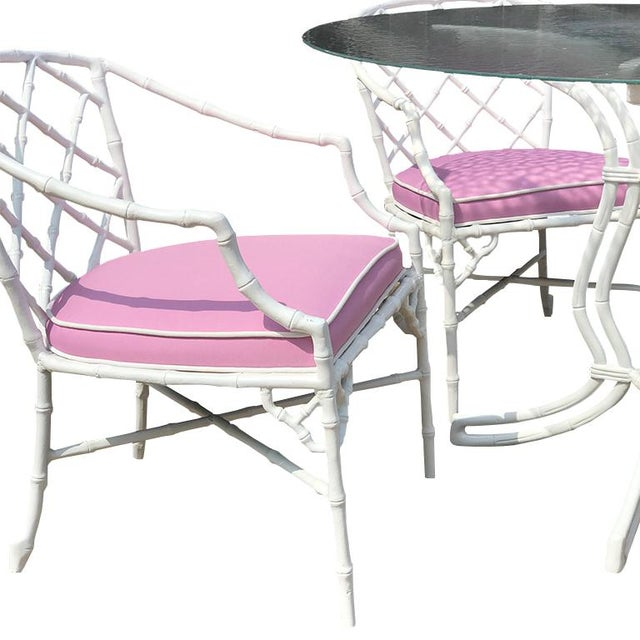 Vintage Mid Century Brown Jordan Calcutta Cast Aluminum Dining Set- 5 Pieces For Sale - Image 11 of 12
