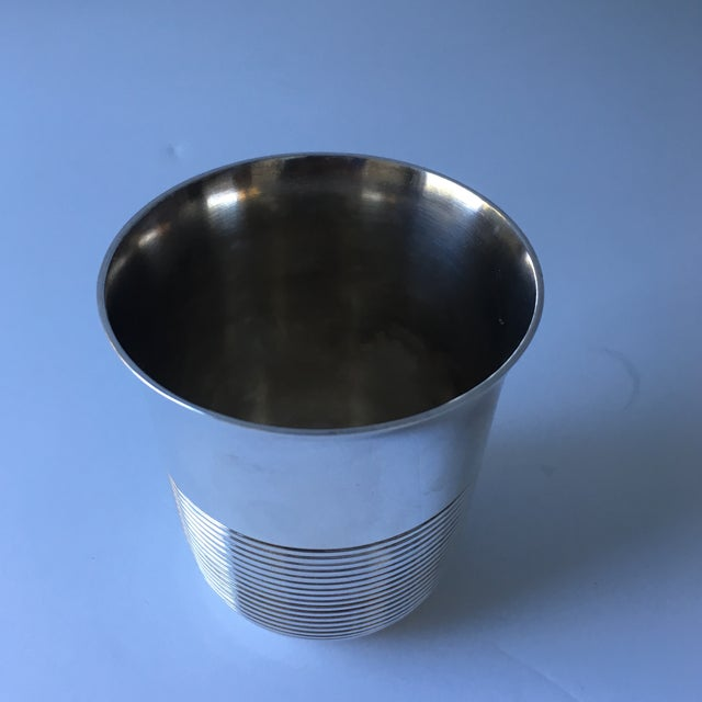 Metal Christofle Silver Plated Babe Tumbler Cup For Sale - Image 7 of 11