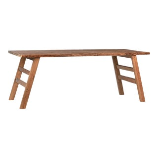 Rustic Salvaged Teak Dining Table For Sale