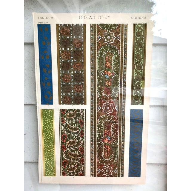 Boho Chic Mid 19th Century Antique Indian Glass Framed Print For Sale - Image 3 of 7