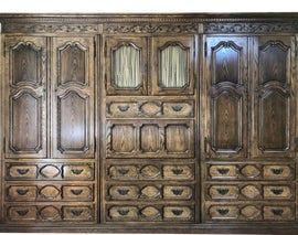 Image of French Provincial Armoires Wardrobes and Linen Presses
