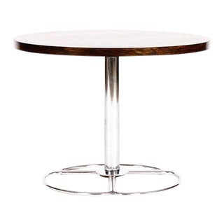 Mid Century Danish Modern Round Rosewood Side Table For Sale