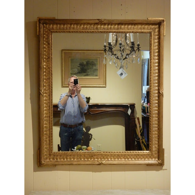 Metal 19th Century French Gold Gilt Mirror For Sale - Image 7 of 7