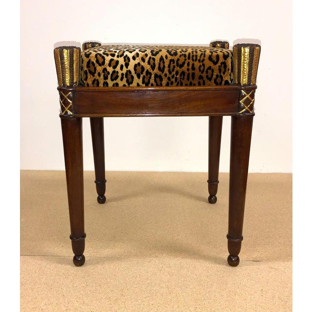 Empire Vintage French Directoire Stools- A Pair For Sale - Image 3 of 8