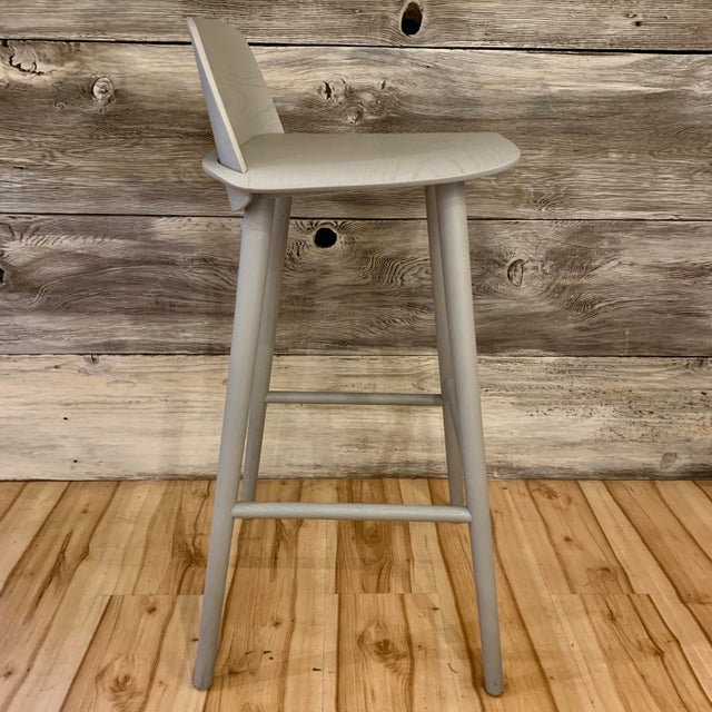 2010s Modern David Geckeler Muuto Nerd Molded Plywood Barstool For Sale - Image 5 of 13