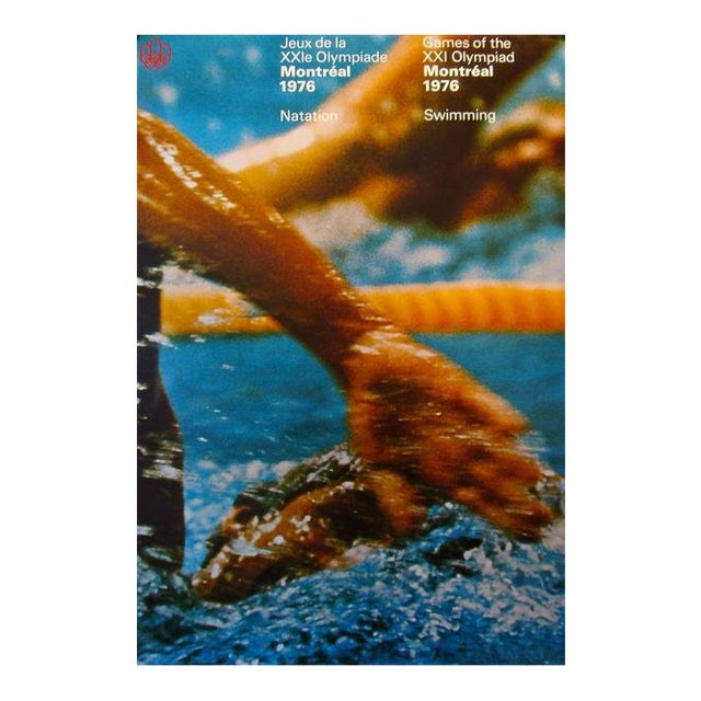 1976 Montreal Olympics Poster, Swimming (Large) - Cojo For Sale