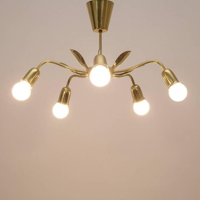 Mid Century Chandelier by Rupert Nikoll, 1950s For Sale - Image 6 of 7