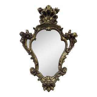 Chunky Rococo Italian Leaf Gilt Mirror For Sale