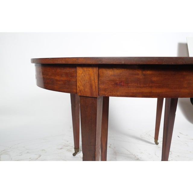 French French Louis XVI Style Oval Mahogany Center Table For Sale - Image 3 of 10