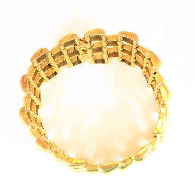 Gold Mid-Century Kreisler Geometric Open-Link Vermeil Bracelet 1940s For Sale - Image 8 of 13