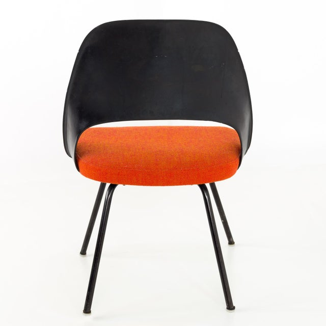 Knoll Vintage Early Saarinen for Knoll Plastic Back Armless Executive Side Desk Chair For Sale - Image 4 of 8