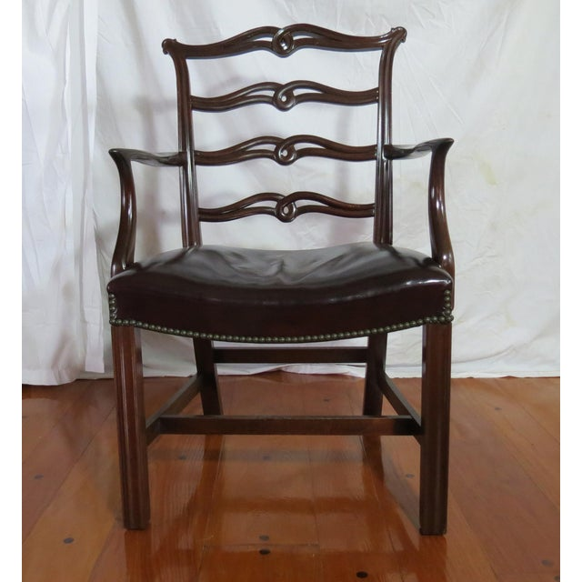 1970s Chippendale Ribbon Back Dining Chairs - Set of 8 For Sale - Image 5 of 13