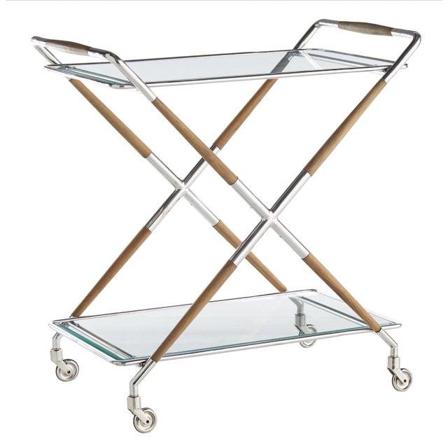 Brown Arteriors Jevon Bar Cart For Sale - Image 8 of 8
