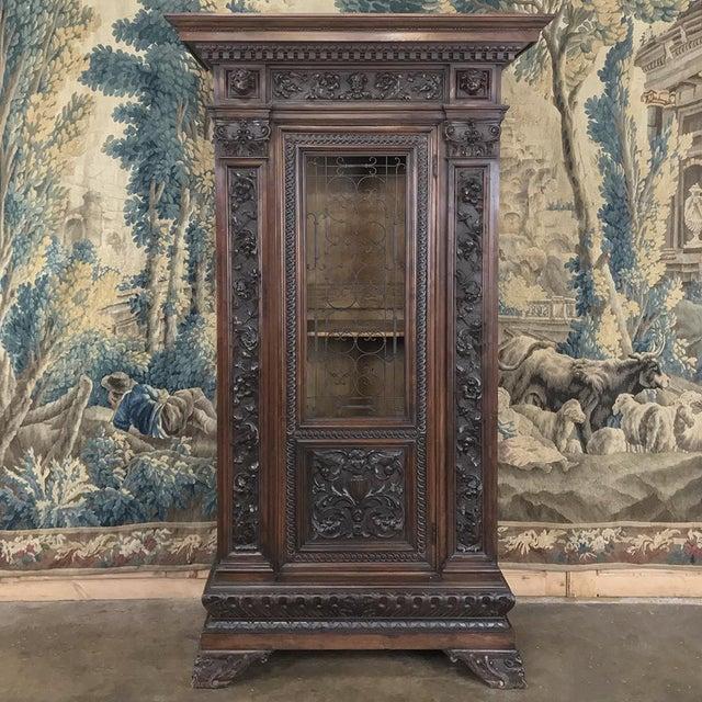 Antique Italian Renaissance Walnut Curio Cabinet For Sale - Image 13 of 13