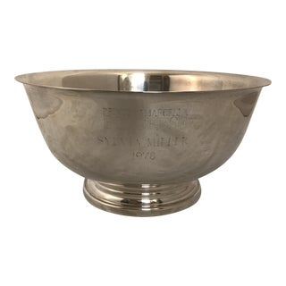 "Gorham 10"" Paul Revere Style Silver Bowl"