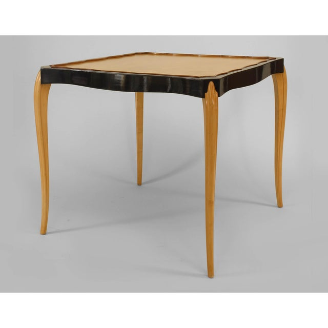 1930s French Sycamore Game Table For Sale - Image 4 of 4