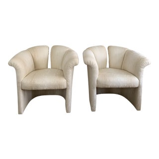 1970s Milo Baughman Thayer Coggin 1980s Deco Revival Shell Chairs For Sale