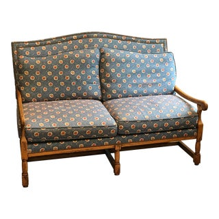 French Country Settee Sofa With Pierre Deux Fabric For Sale