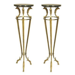 1970s French Empire Style Pedestals by Maison Jansen - a Pair For Sale