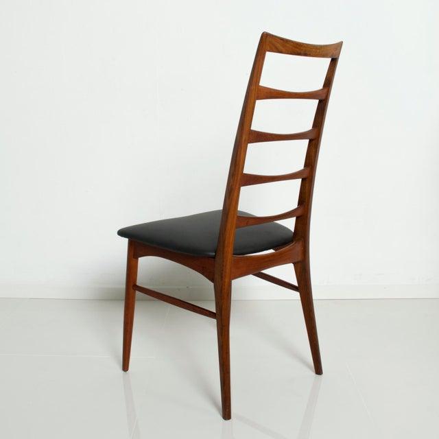 Set of 4 Danish Modern Teak Ladder Back Niels Koefoeds Dining Chairs Hornslet For Sale In San Diego - Image 6 of 11