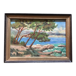 Vintage Framed French Painting