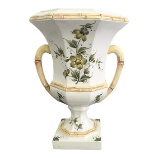 Vintage Italian Majolica Urn For Sale