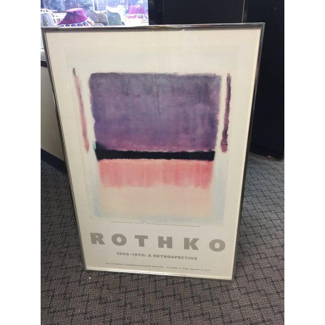 1970s 1978 Rothko Guggenheim Museum Poster For Sale - Image 5 of 5
