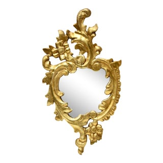 Italian Giltwood Accent Mirror For Sale